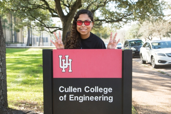 Christine Stroh, a UH chemical engineering junior, is busy exploring career options.