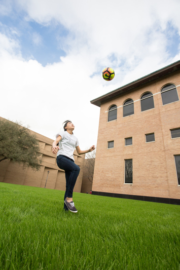 Megan Goh, a UH biomedical engineering senior, wants to combine medicine and engineering to help athletes like her recover from sports injuries.