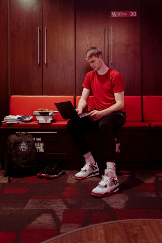 Caleb Broodo Houston Cougars Basketball Jersey - Red