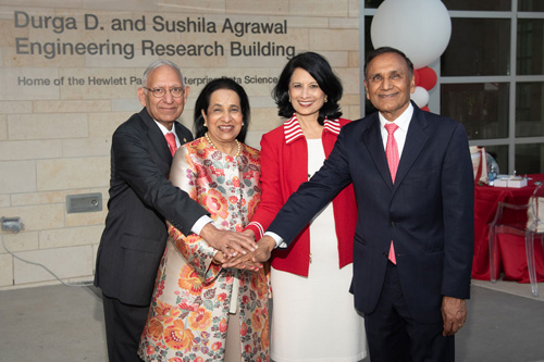 UH Engineering Building Named for Durga D. and Sushila Agrawal