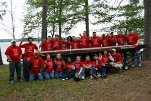 The UH student chapter of the American Society of Civil Engineers (ASCE) won the regional concrete canoe competition in April, earning them a spot in the upcoming national competition June 14 in Seattle, Wash. Photo compliments of ASCE student chapter.