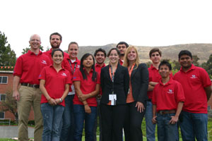 The University of Houston concrete canoe was one of 22 teams to compete at the national competition in California. Contributed photo