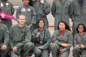 "Members of the UH Cougarnauts team experienced almost zero-gravity in NASA's ""Vomit Comet"""