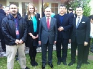 Members of the College's biomedical engineering department met with Turkish government officials at a recent gathering in Houston.