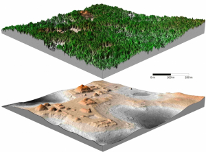 Working with archeologists in Belize, NCALM researchers were able to create topographical maps of a Mayan city through dense vegetation. These maps located ruins and features that hadn't been discovered during years of more traditional archeological exploration and research.