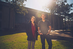 Nicole Neveu and Richie Dettloff were members of the team whose undergraduate work won the Best Paper Award at a recent IEEE conference.