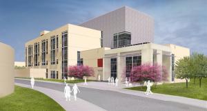 Rendering of the new Multidisciplinary Research and Engineering Building (MREB), to be completed by Summer 2016.