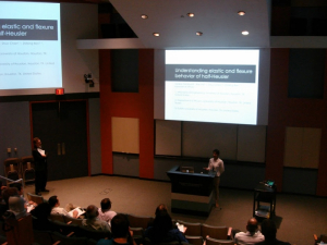 "Sonika Gahlwat presents ""Understanding Elastic and Flexure Behavior of Half-Heusler Thermo-electric Materials"""