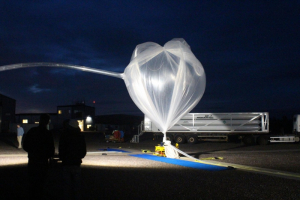 BARREL ballon inflated just before launch Aug 13. Photo courtesy of NASA-Edgar Bering
