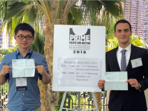 Cullen College graduate students Dongjun Wu and Kamyar Ahmadi in Hawaii
