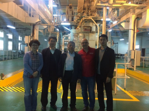 More of the international team: (l-r) Jinlei Zhang, assistant dean of Dalian Law School, Yejin Lin, deputy dean of Dalian marine engineering, UH's Keh-Han Wang and Roberto Ballarini, Weiliang Qito, lecturer at Dalian