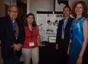 The RASC-AL team (l-r) UH Professor Larry Bell, Suzana Bianco, Shunsuke Miyazaki and Olga Bannova with the winning design poster