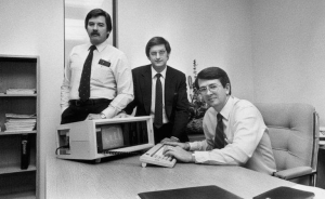 Rod Canion (far right) in the early days of Compaq