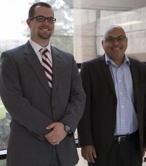 Matthew Zelisko (left) and Pradeep Sharma