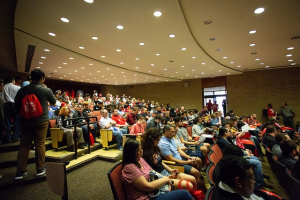 Over 100 High School Seniors visit the UH Cullen College on Saturday, April 7