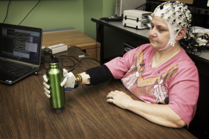 One of Dr. Jose Contreras-Vidal's projects: a prosthetic hand with brain-machine interfacing