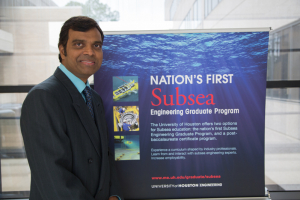 Dr. Phaneendra Kondapi, director of UH's Subsea Engineering Program, is presenting at the 50th annual Offshore Technology Conference.