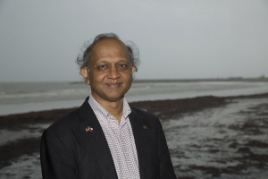 Professor Cumaraswamy Vipulanandan (Vipu), director of the Texas Hurricane Center for Innovative Technology at the University of Houston