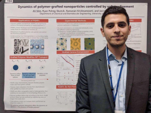 Ali Slim, a UH doctoral student, wins Best Poster Award at the Society of Rheology meeting.