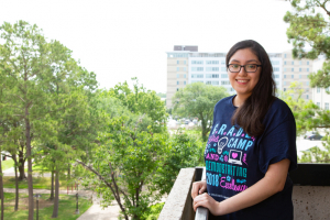 Lupita Villanueva, a third-year mentor at G.R.A.D.E. Camp, is a petroleum engineering major at the University of Houston.