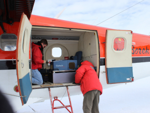 Researchers with the National Center for Airborne Laser Mapping used the center's lidar-equipped plane to map the permafrost in Antarctica.