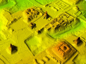 Researchers with the National Center for Airborne Laser Mapping captured 3-D images of the Maya settlement of Tikal using state-of-the-art LiDAR technology. Credit: National Center for Airborne Laser Mapping/University of Houston