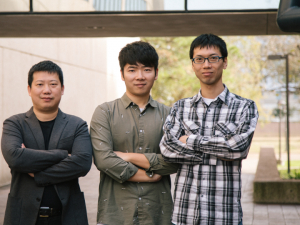 Yan Yao, left, associate professor of electrical and computer engineering, led the project, along with first authors Hui Dong and Yanliang Leonard Liang.