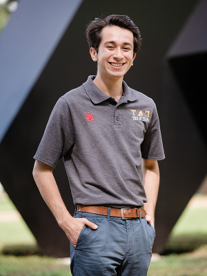 Marco Espinosa, mechanical engineering senior at the UH Cullen College of Engineering.