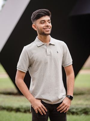 Mohammad Khan, a biomedical engineering senior at the UH Cullen College of Engineering