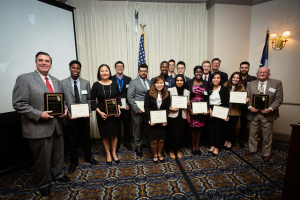 The inductees, honorees, and scholarship recipients at the 2019 Gala & Induction Ceremony