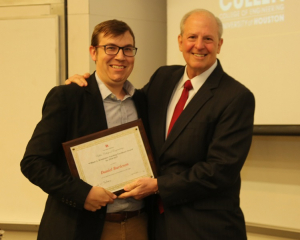Daniel Burleson, an instructional assistant professor at the UH Cullen College, won a William A. Brookshire Teaching Excellence Award.
