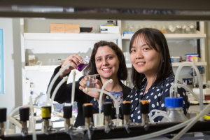 Debora Rodrigues and Yandi Hu, associate professors at the UH Cullen College of Engineering, are collaborating to address water purification issues.