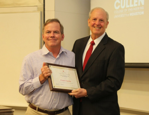 Fritz Claydon, professor of electrical and computer engineering and director of the division of undergraduate programs and student success at the Cullen College, received the 2018-19 Career Teaching Award.