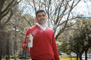 Hadi Ghasemi, Bill D. Cook Assistant Professor of mechanical engineering, is renowned for his work involving innovative materials and icephobicity