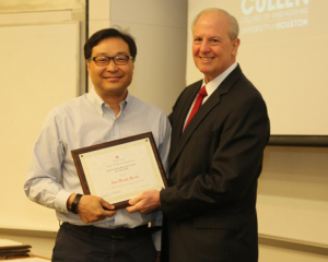 Jae-Hyun Ryou, associate professor of mechanical engineering, won the 2018-2019 Research Excellence Award.