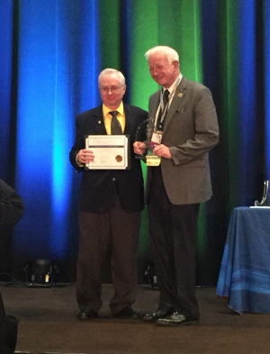 Jerry Rogers, a UH Cullen College retiree, received a Service to the Institute Award from the American Society of Civil Engineers (ASCE). Photo credit: Former UH-CEE faculty Ted Cleveland.