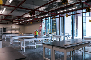 One of several engineering design studios almost ready to welcome students to UH Katy.