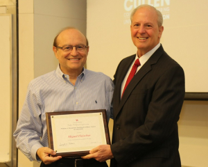 Miguel Fleischer, adjunct professor of chemical and biomolecular engineering, won a William A. Brookshire Teaching Excellence Award.