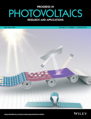 UH engineers land on the cover of the journal Progress in Photovoltaics: Research and Applications.