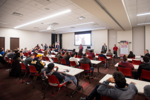 Over 100 individuals joined representatives from the University of Houston Cullen College of Engineering and Houston Community College last Thursday, Feb. 20, for the first official UH/HCC Engineering Academy Information Session.