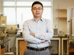 "Cunjiang Yu, Bill D. Cook Associate Professor of Mechanical Engineering, led a team reporting a new form of electronics known as ""drawn-on-skin electronics,"" which allows multifunctional sensors and circuits to be drawn on the skin with an ink pen."