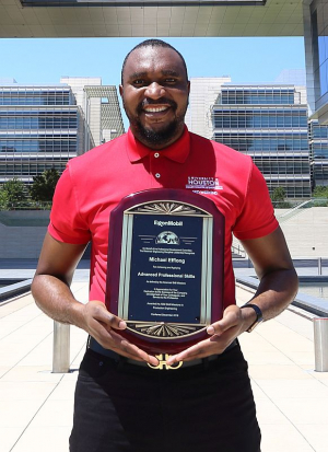 Michael Effiong, a doctoral student in the Petroleum Engineering program at the Cullen College of Engineering, has received an award from ExxonMobil for his work in reservoir engineering.