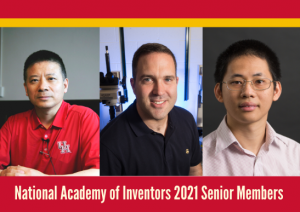 Hien Nguyen, Jeffrey Rimer and Gangbing Song have been elected to the NAI Senior Member Class of 2021
