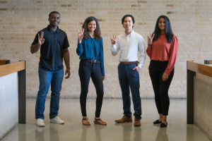 Cullen College of Engineering TrueStep Capstone team members Arnold Emeh, Rukaiya Batliwala, Anthony Pham and Tanvi Parikh won two awards at the 2021 Excellence in Senior Design Competition at the University of Texas at Dallas.