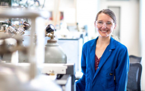 UH graduate student Jacklyn N. Hall has gained national recognition for her work on catalysis research.