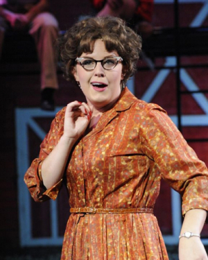 """An image of Stewart from a production of """"White Christmas."""""""