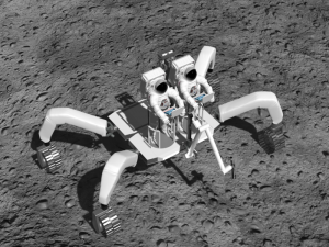 Images of a 3D rover model, provided by Dr. Olga Bannova, a research professor in the Cullen College of Engineering's Mechanical Engineering Department and the director of the Space Architecture Graduate Program.