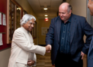 Former President of India Visits UH Nanofab Facility