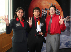 UH Space Coogs Design Team: Dhruval Bhatt, Bryant Lopez, and Lazaro Rodriguez