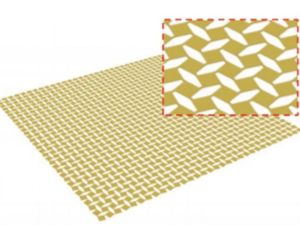 Schematic of a biaxially stretched kirigami sheet.